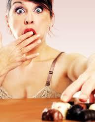 vrouw eet
